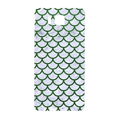 Scales1 White Marble & Green Leather (r) Samsung Galaxy Alpha Hardshell Back Case