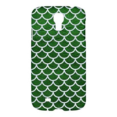 Scales1 White Marble & Green Leather Samsung Galaxy S4 I9500/i9505 Hardshell Case