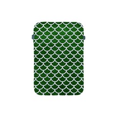 Scales1 White Marble & Green Leather Apple Ipad Mini Protective Soft Cases