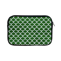 Scales1 White Marble & Green Leather Apple Ipad Mini Zipper Cases