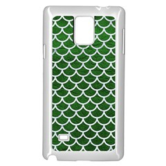 Scales1 White Marble & Green Leather Samsung Galaxy Note 4 Case (white)