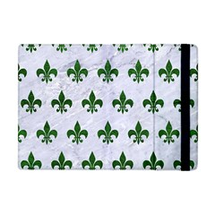 Royal1 White Marble & Green Leather Apple Ipad Mini Flip Case