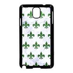 Royal1 White Marble & Green Leather Samsung Galaxy Note 3 Neo Hardshell Case (black)