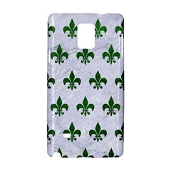 Royal1 White Marble & Green Leather Samsung Galaxy Note 4 Hardshell Case
