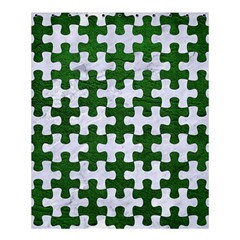 Puzzle1 White Marble & Green Leather Shower Curtain 60  X 72  (medium)