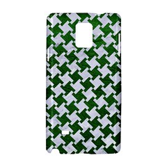 Houndstooth2 White Marble & Green Leather Samsung Galaxy Note 4 Hardshell Case
