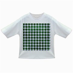 Houndstooth1 White Marble & Green Leather Infant/toddler T Shirts