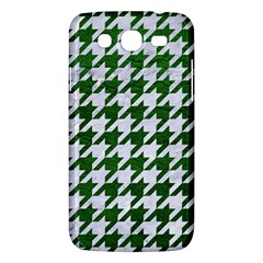 Houndstooth1 White Marble & Green Leather Samsung Galaxy Mega 5 8 I9152 Hardshell Case