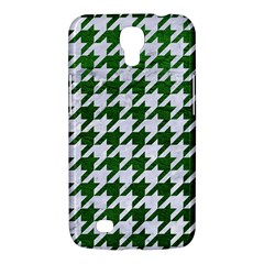 Houndstooth1 White Marble & Green Leather Samsung Galaxy Mega 6 3  I9200 Hardshell Case