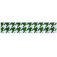 Houndstooth1 White Marble & Green Leather Large Flano Scarf