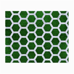 Hexagon2 White Marble & Green Leather Small Glasses Cloth (2 Side)