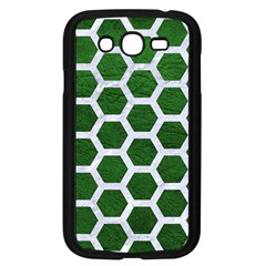 Hexagon2 White Marble & Green Leather Samsung Galaxy Grand Duos I9082 Case (black)