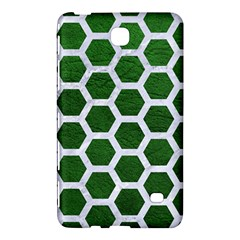 Hexagon2 White Marble & Green Leather Samsung Galaxy Tab 4 (7 ) Hardshell Case