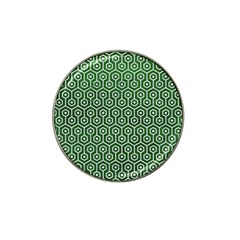 Hexagon1 White Marble & Green Leather Hat Clip Ball Marker (10 Pack)