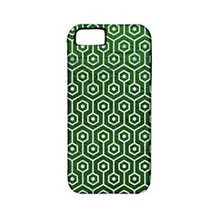 Hexagon1 White Marble & Green Leather Apple Iphone 5 Classic Hardshell Case (pc+silicone)