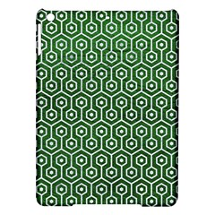 Hexagon1 White Marble & Green Leather Ipad Air Hardshell Cases