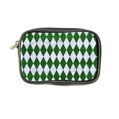 Diamond1 White Marble & Green Leather Coin Purse