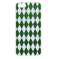 Diamond1 White Marble & Green Leather Apple Iphone 5 Seamless Case (white)