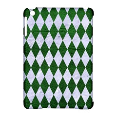 Diamond1 White Marble & Green Leather Apple Ipad Mini Hardshell Case (compatible With Smart Cover)