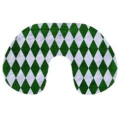 Diamond1 White Marble & Green Leather Travel Neck Pillows