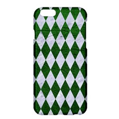 Diamond1 White Marble & Green Leather Apple Iphone 6 Plus/6s Plus Hardshell Case