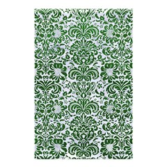 Damask2 White Marble & Green Leather (r) Shower Curtain 48  X 72  (small)