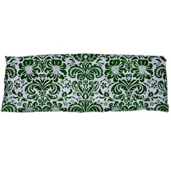 Damask2 White Marble & Green Leather (r) Body Pillow Case (dakimakura)