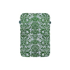 Damask2 White Marble & Green Leather (r) Apple Ipad Mini Protective Soft Cases
