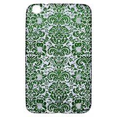 Damask2 White Marble & Green Leather (r) Samsung Galaxy Tab 3 (8 ) T3100 Hardshell Case