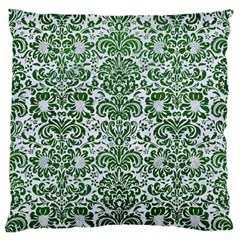 Damask2 White Marble & Green Leather (r) Standard Flano Cushion Case (two Sides)