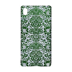 Damask2 White Marble & Green Leather (r) Sony