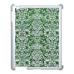 Damask2 White Marble & Green Leather Apple Ipad 3/4 Case (white)