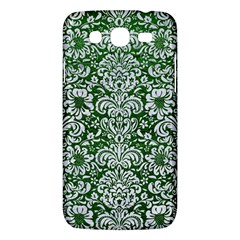 Damask2 White Marble & Green Leather Samsung Galaxy Mega 5 8 I9152 Hardshell Case