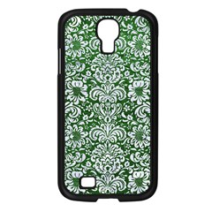 Damask2 White Marble & Green Leather Samsung Galaxy S4 I9500/ I9505 Case (black)