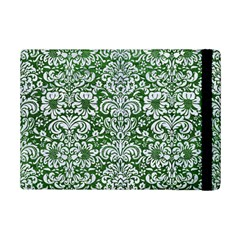 Damask2 White Marble & Green Leather Ipad Mini 2 Flip Cases