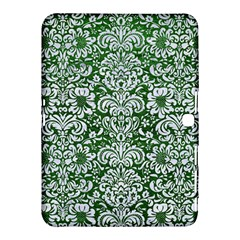 Damask2 White Marble & Green Leather Samsung Galaxy Tab 4 (10 1 ) Hardshell Case