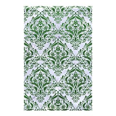 Damask1 White Marble & Green Leather (r) Shower Curtain 48  X 72  (small)