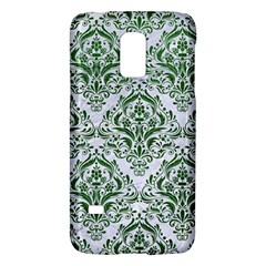 Damask1 White Marble & Green Leather (r) Samsung Galaxy S5 Mini Hardshell Case