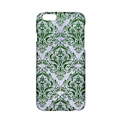 Damask1 White Marble & Green Leather (r) Apple Iphone 6/6s Hardshell Case by trendistuff