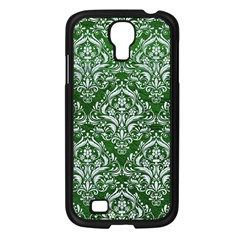 Damask1 White Marble & Green Leather Samsung Galaxy S4 I9500/ I9505 Case (black)