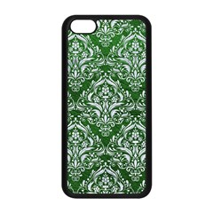 Damask1 White Marble & Green Leather Apple Iphone 5c Seamless Case (black)