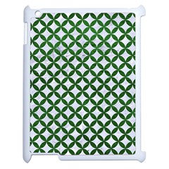 Circles3 White Marble & Green Leather (r) Apple Ipad 2 Case (white)