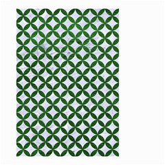 Circles3 White Marble & Green Leather (r) Small Garden Flag (two Sides)