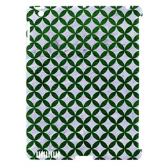 Circles3 White Marble & Green Leather (r) Apple Ipad 3/4 Hardshell Case (compatible With Smart Cover)