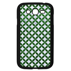 Circles3 White Marble & Green Leather (r) Samsung Galaxy Grand Duos I9082 Case (black)