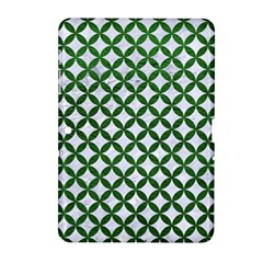 Circles3 White Marble & Green Leather (r) Samsung Galaxy Tab 2 (10 1 ) P5100 Hardshell Case