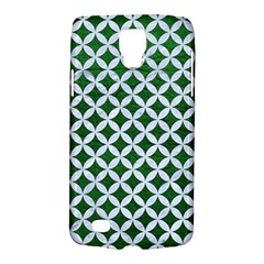 Circles3 White Marble & Green Leather Samsung Galaxy S4 Active (i9295) Hardshell Case