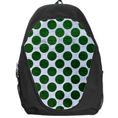 Circles2 White Marble & Green Leather (r) Backpack Bag