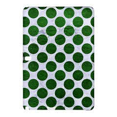 Circles2 White Marble & Green Leather (r) Samsung Galaxy Tab Pro 10 1 Hardshell Case