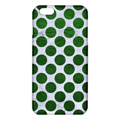 Circles2 White Marble & Green Leather (r) Iphone 6 Plus/6s Plus Tpu Case